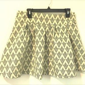 Freeway Anthropologies Large Chevron Skater Skirt